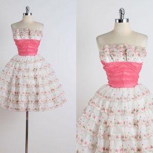Vintage scalloped dress